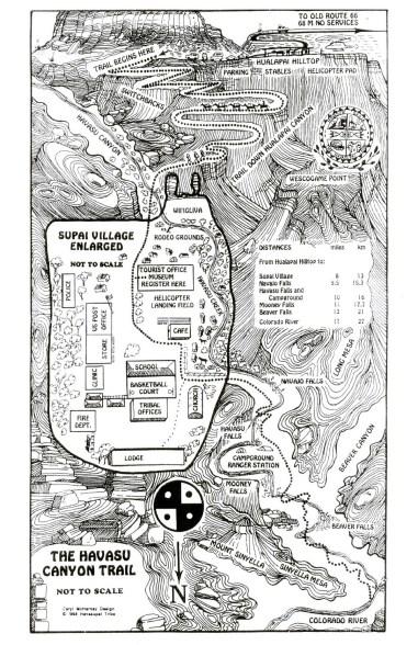 havasu-canyon-excursión-mapa