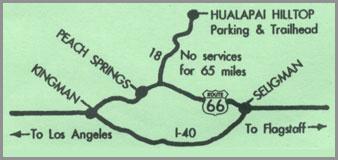 mapa para llegar a Hualapai Hilltop